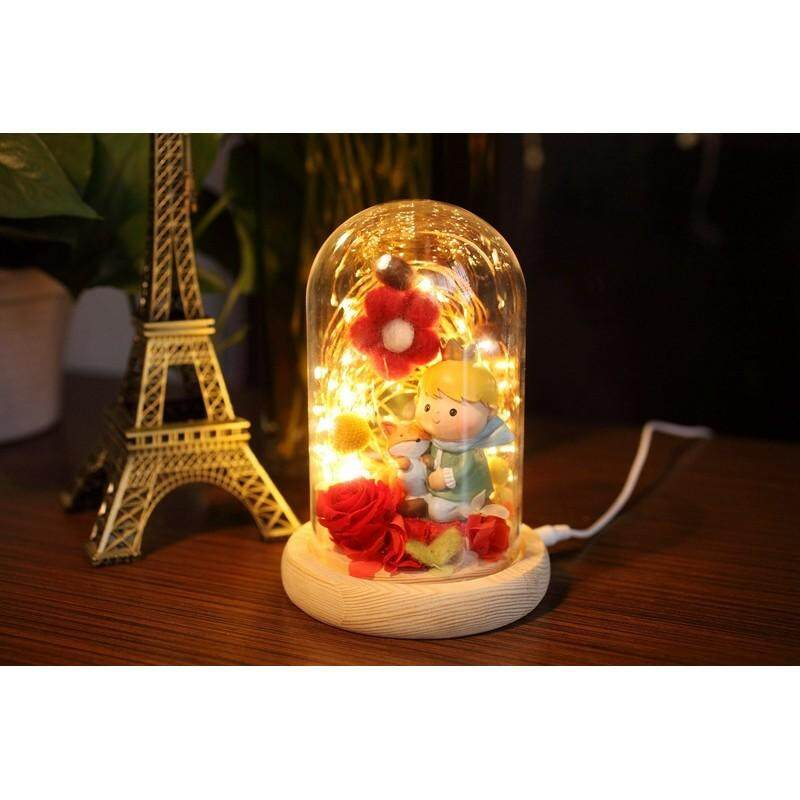 And LED Preserved Rose Glass Gift Box