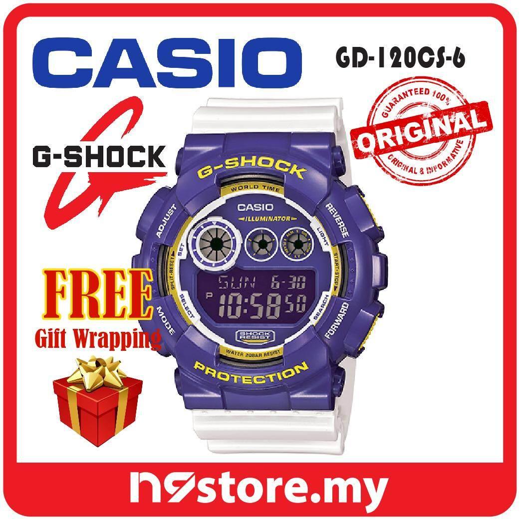 Features Casio G Shock Gd 120cs 6 Digital Purple White Crazy Color 400mb 1 Sports Watch