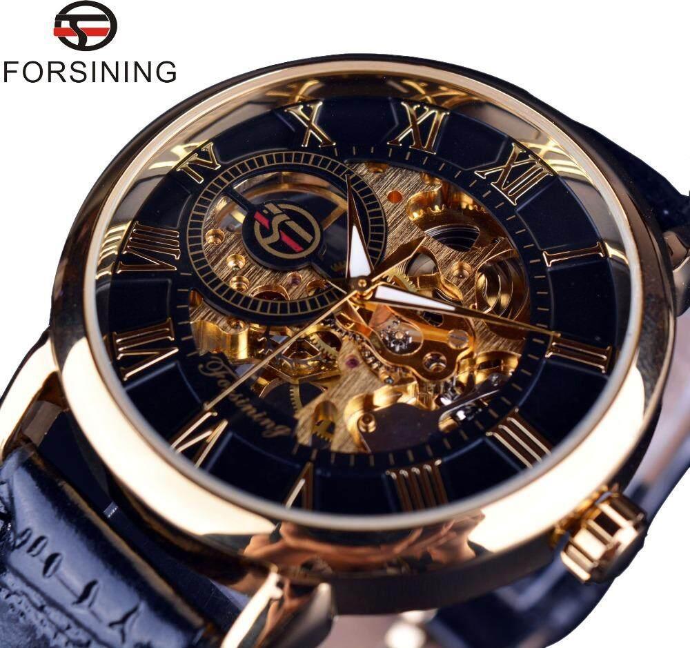 FORSINING Men Mechanical Watch  Men Watches Top Brand Luxury Leather Skeleton Royal Design Malaysia