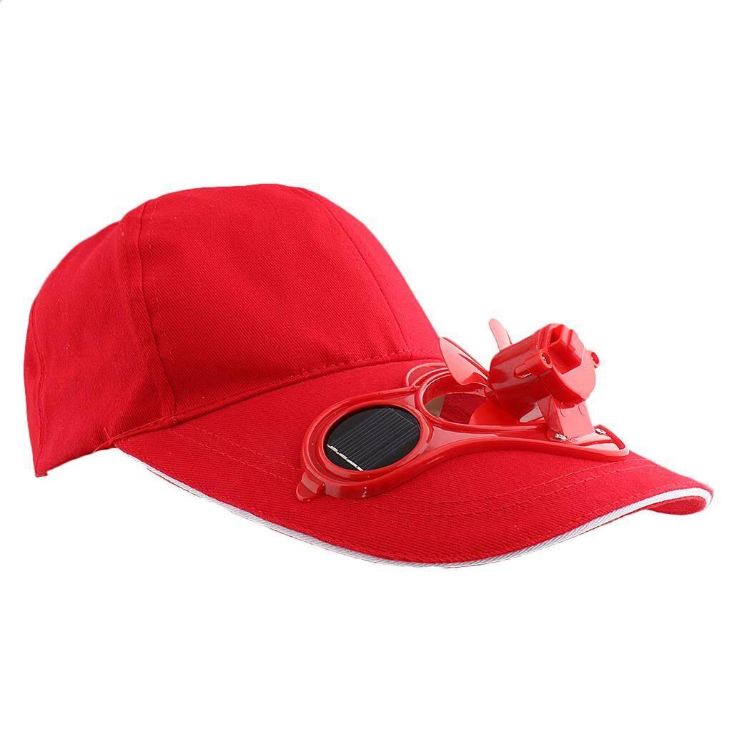 Miracle Bersinar Olahraga Memancing Bisbol Golf Tenaga Surya Power Kipas Pendingin Topi Topi Merah-Internasional
