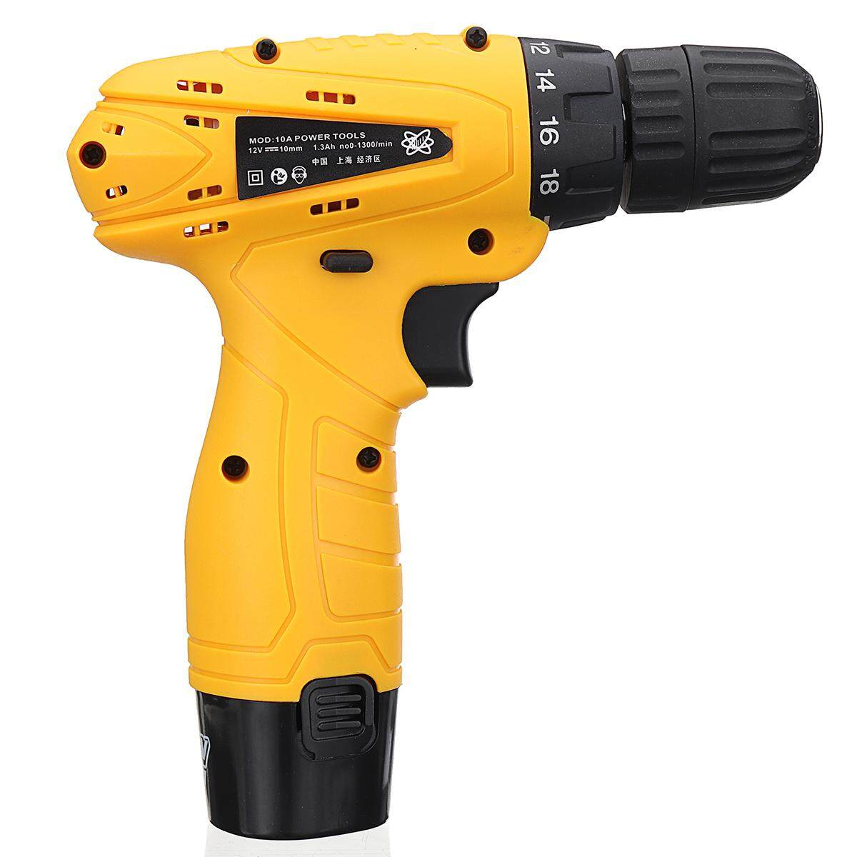 12V Cordless Rechargeable Drill Driver Electric Screwdriver With Box - intl