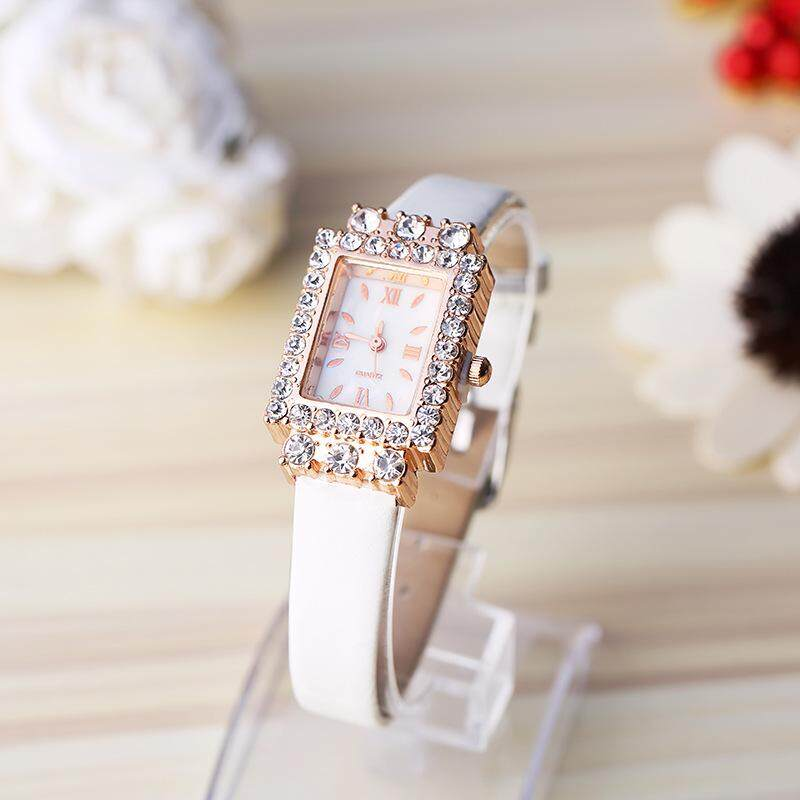 New trend candy color strap simple and elegant quartz watch diamond square personalized ladies fashion watch(Blue) bán chạy