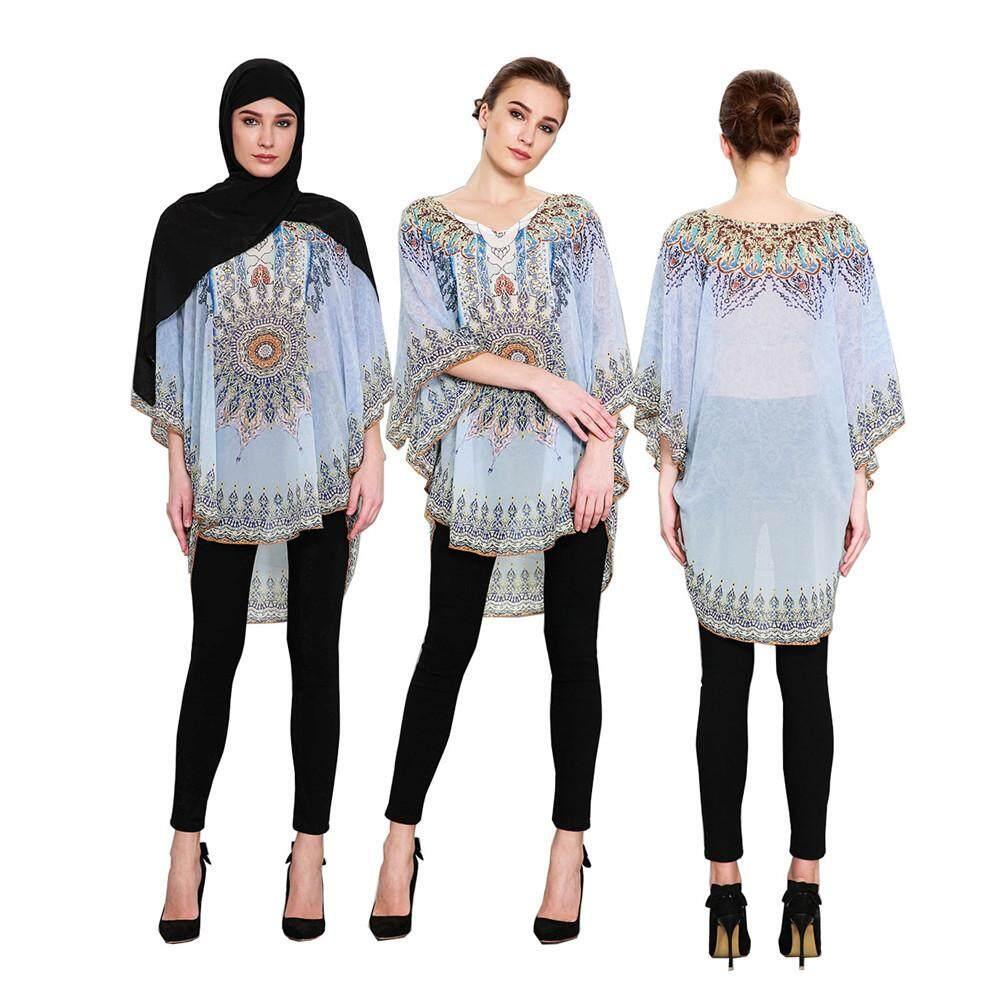 12d5d45e98a58e Chiffon Shirts Muslim Dress Flower Islamic Dresses Hijab Clothing Muslim  Abayas Dress