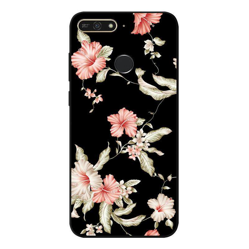 Aging For Huawei Honor 7A Case Beautiful Flower Lady Girl Pattern Soft Silicone Cover Handphone HP Casing