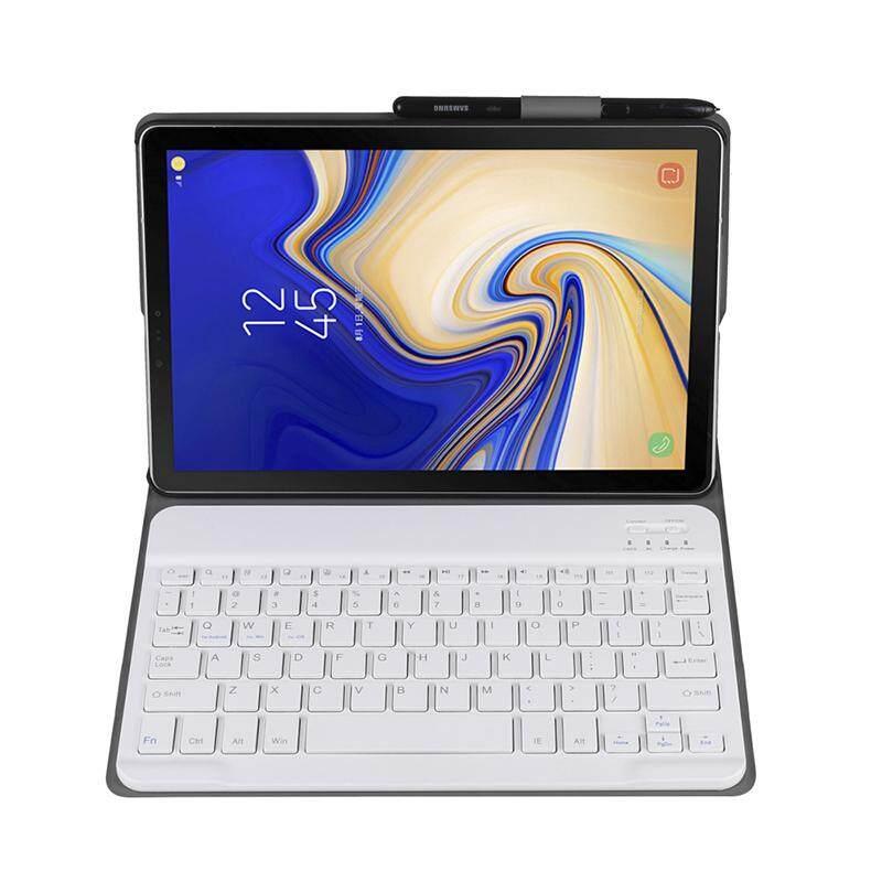 Lightweight Detach Wireless Bluetooth Keyboard Cover PU Leather Case for Samsung Galaxy Tab A 10.5 inch