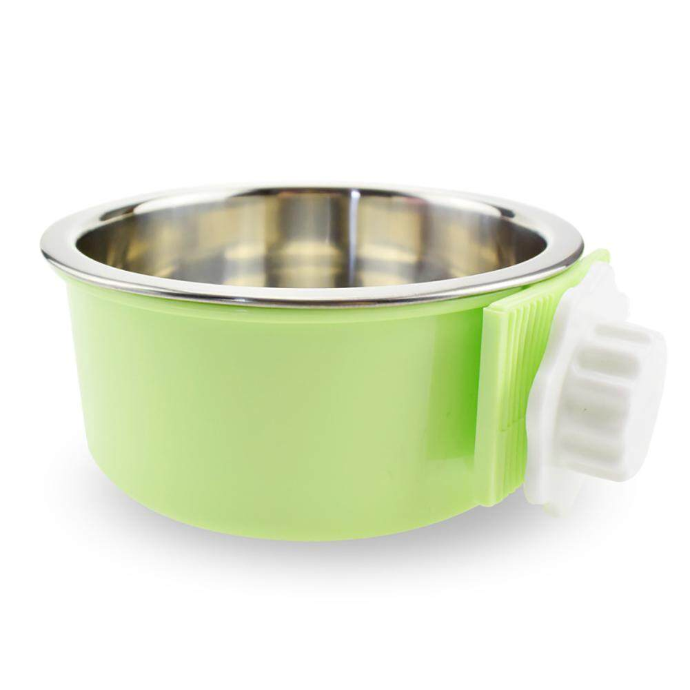 Leegoal Stainless Steel Dog Bowl Removable Water Food Feeder For Cat Puppy Bird Pets,greem - Intl By Leegoal.