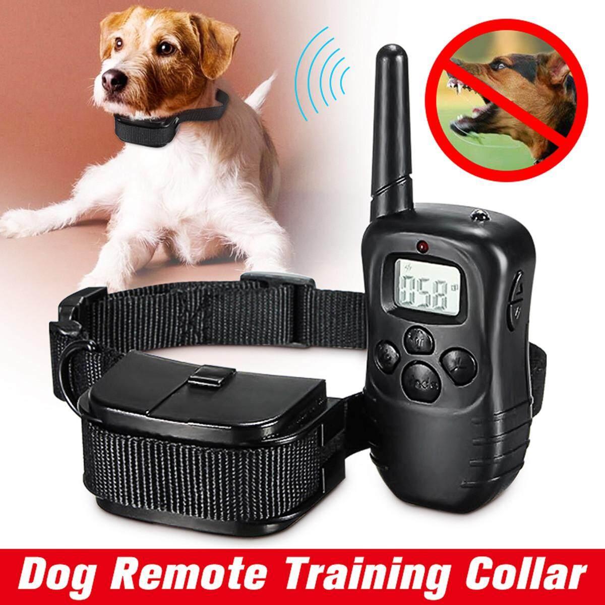LCD 100LV Level Pet Dog Shock&Vibra Remote Training Collar for 10-130lb Dog
