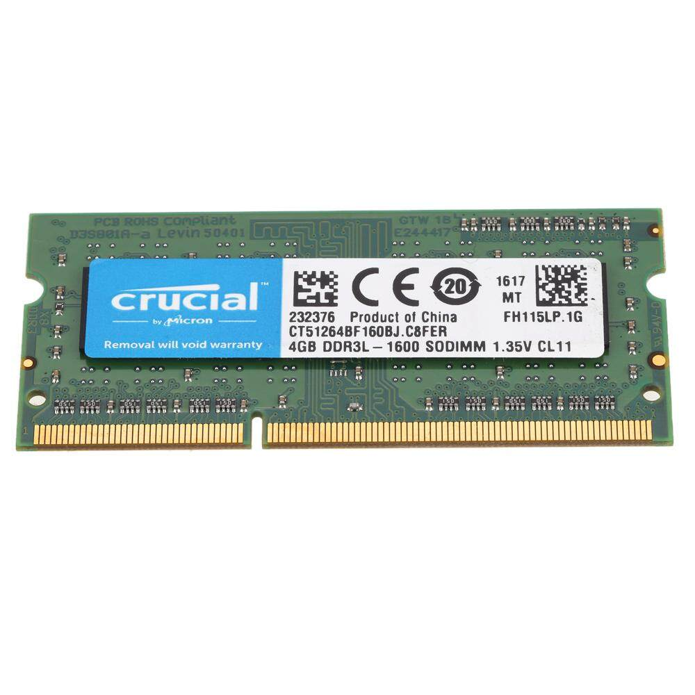 Features Crucial 4gb Ddr3 1600mhz Pc3 12800 1 35v Cl11 204 Pin Memory Laptop 135v Sodimm Notebook