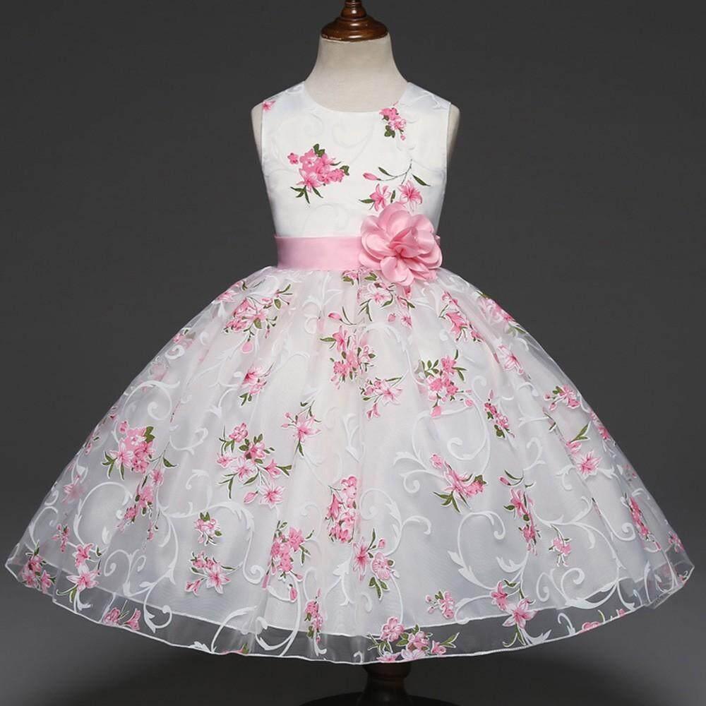 eface56bcb  childshop Childrens Kids Girls Floral Princess Floral Gown Party  Sleeveless Tutu Dress