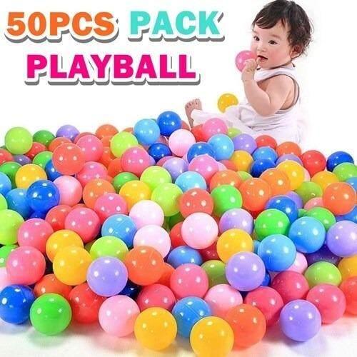 Soft Plastic Air-Filled Ocean Ball Playballs 50 Pcs Pack