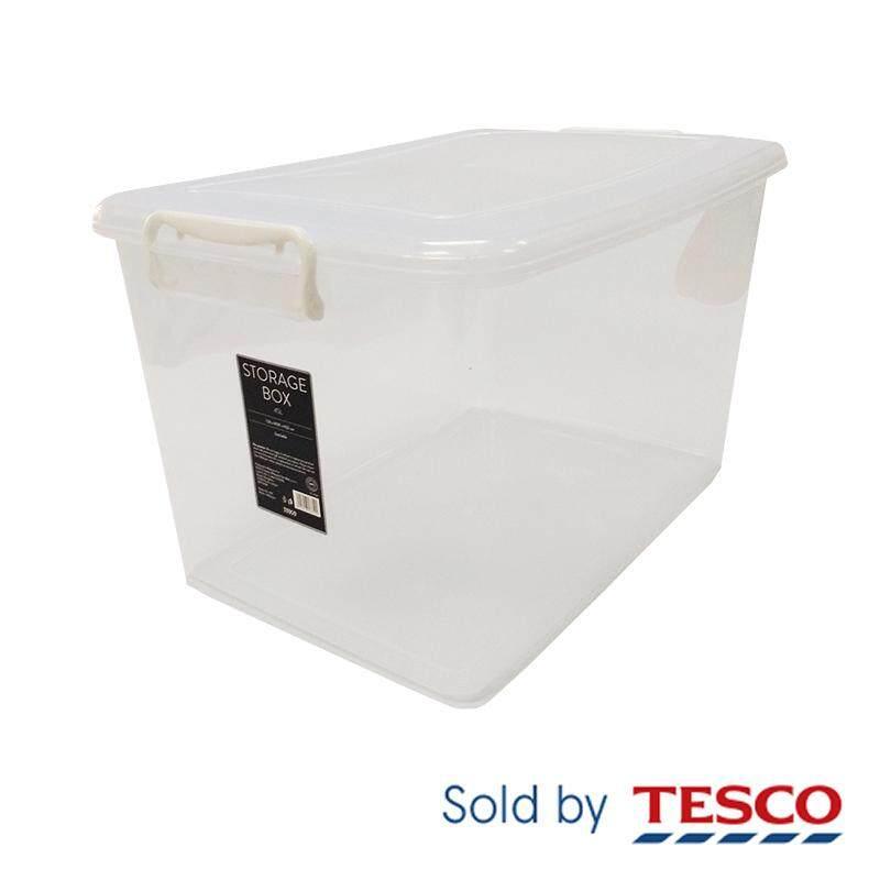 Tesco Storage Box 45L 706T (TRANSPARENT)  sc 1 st  Lazada & Tesco Storage Box 45L 706T (TRANSPARENT)