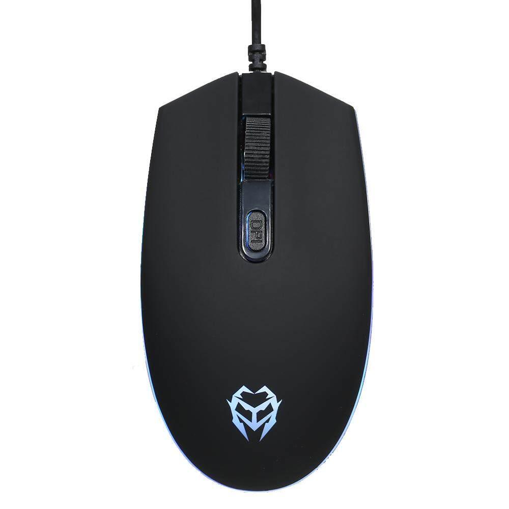 Kingangjia JM610 Optical Esport Gaming Mouse Mice Adjustable 1600 DPI Breathing LED Light USB Wired for
