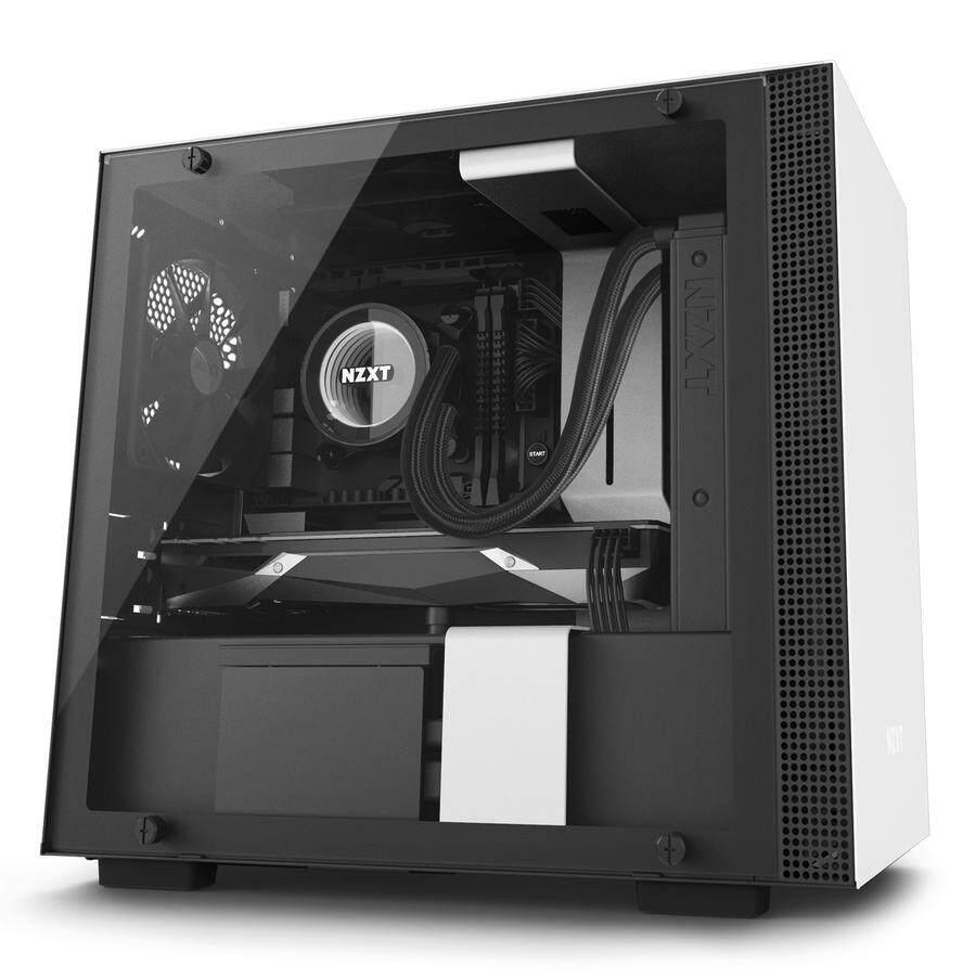 # NZXT H200i CAM-powered Premium Mini-ITX Tempered Glass Case # Black | White | Red Malaysia