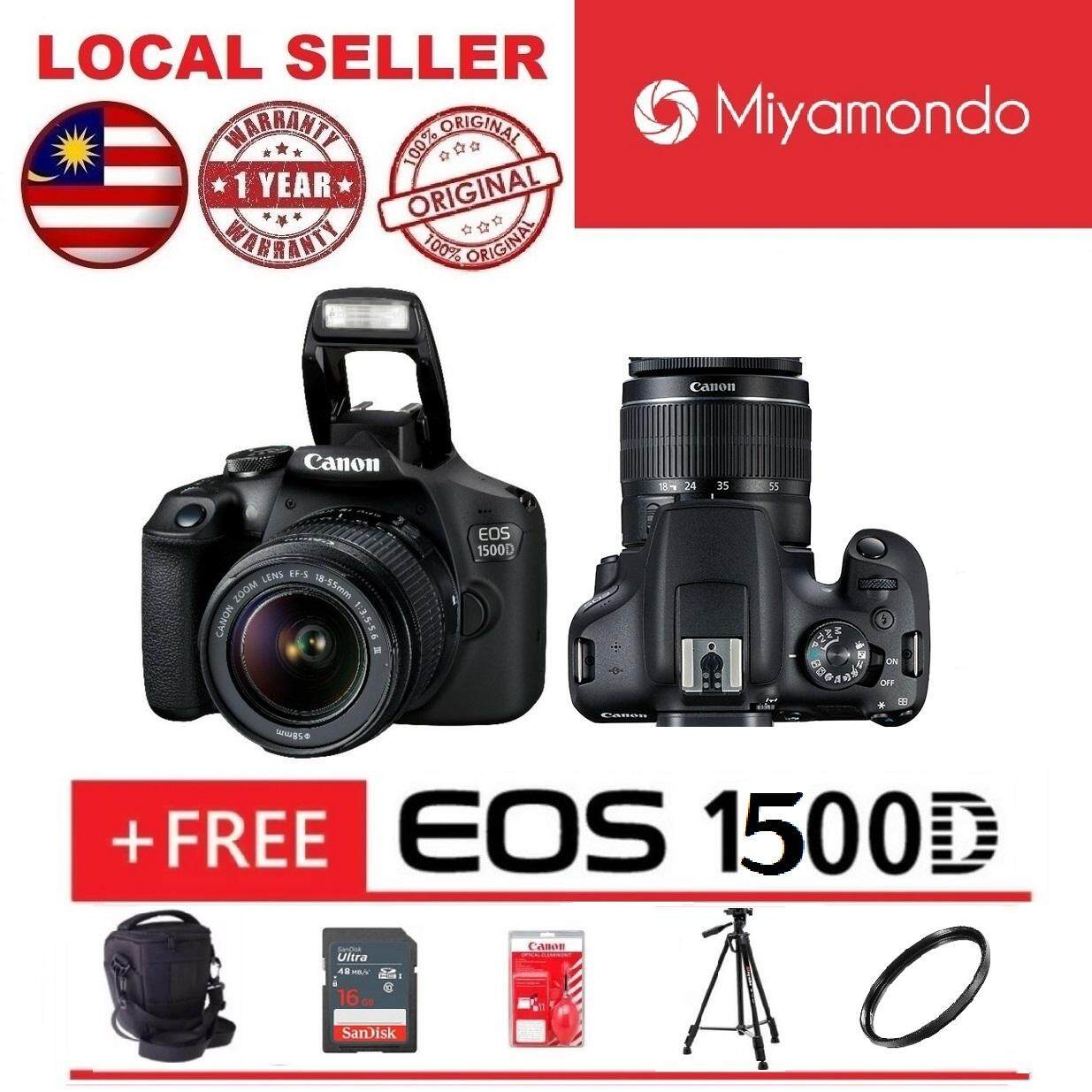 Canon Cameras Dslrs Slrs Price In Malaysia Best Digital Eos 1300d With Lens 18 55mm Is Ii 1500d 16gb Bag Tripod Cleaning