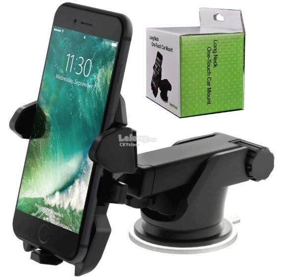 Long Neck One Touch Car Mount Holder Suction Cup For Mobile Phone