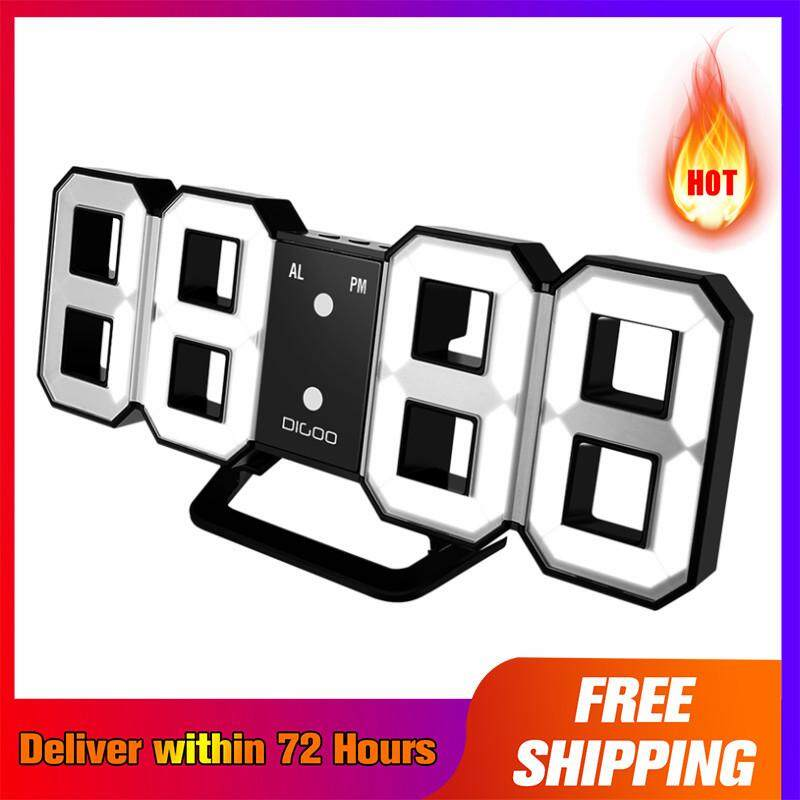 【Free Shipping + Super Deal + Limited Offer】Digoo DC-K3 Multi-Function Large 3D LED Digital Wall Clock Alarm Clock With Snooze Function 12/24 Hour Display
