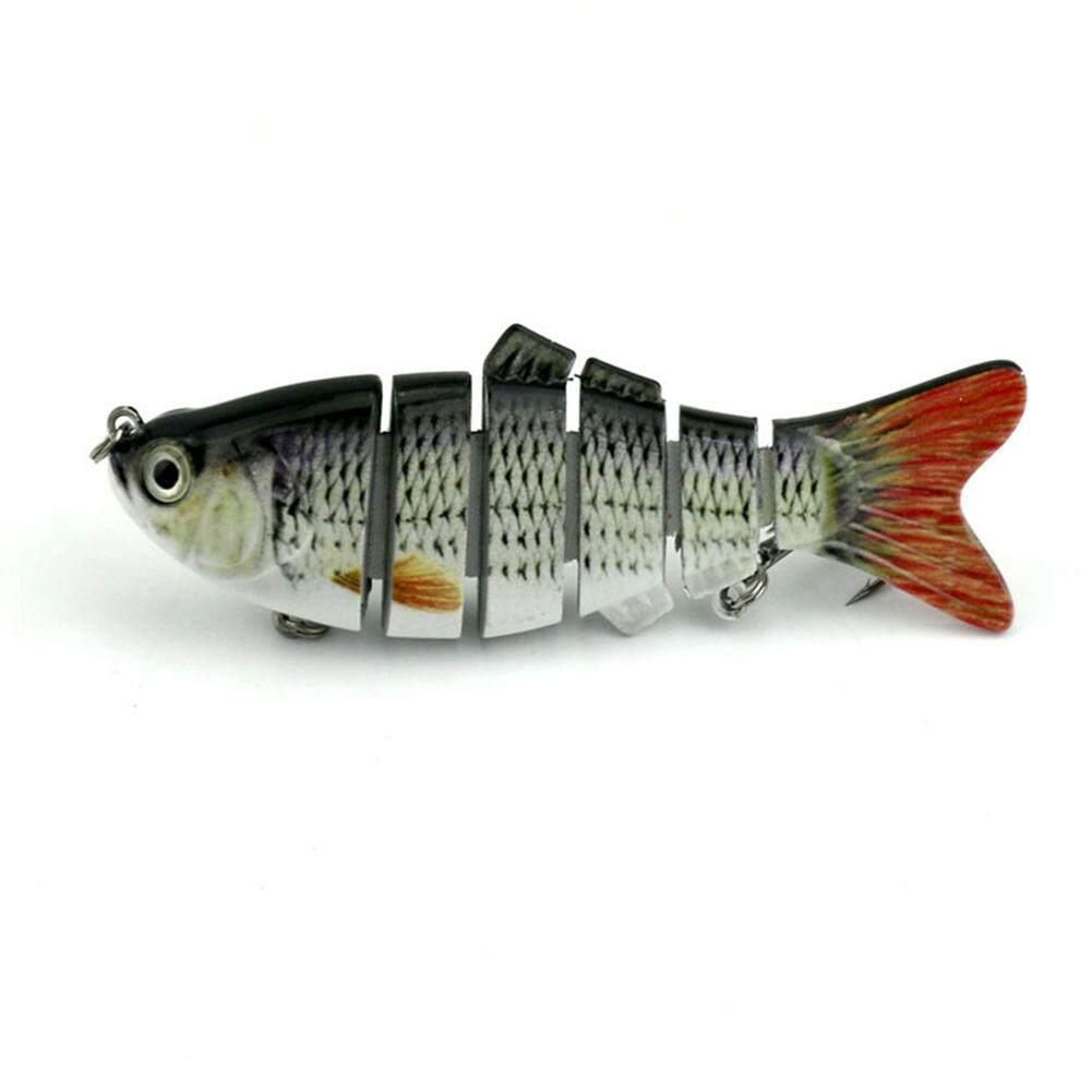 10 Cm 18G Multi Jointed Plastik Pancing Umpan Bait Bas Crank Ikan Kecil Swimbait untuk Air Tawar Air Laut LUCKY-G-Internasional