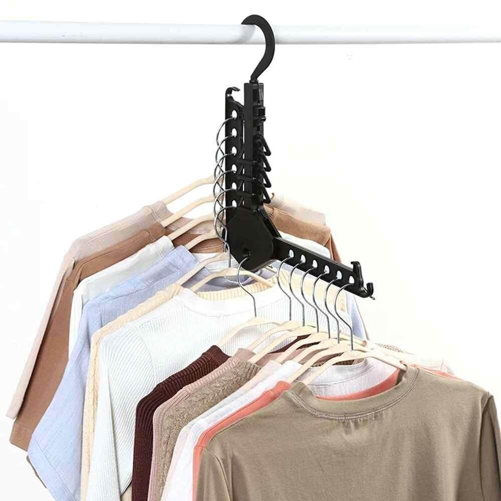 SWAY Berbagai Multi-Fungsional Kreatif Foldable Hanger Ajaib Portable Perjalanan Rumah Pakaian Penanda Bagasi PVC Alat Bantu Bagus-Intl