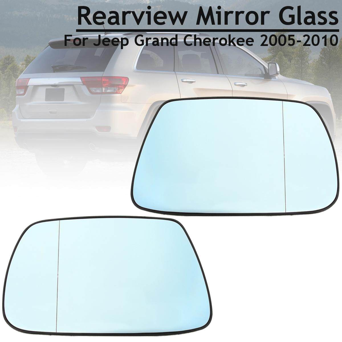 Blue Left+Right Heated Rearview Mirror Glass For Jeep Grand Cherokee 2005-2010 - intl