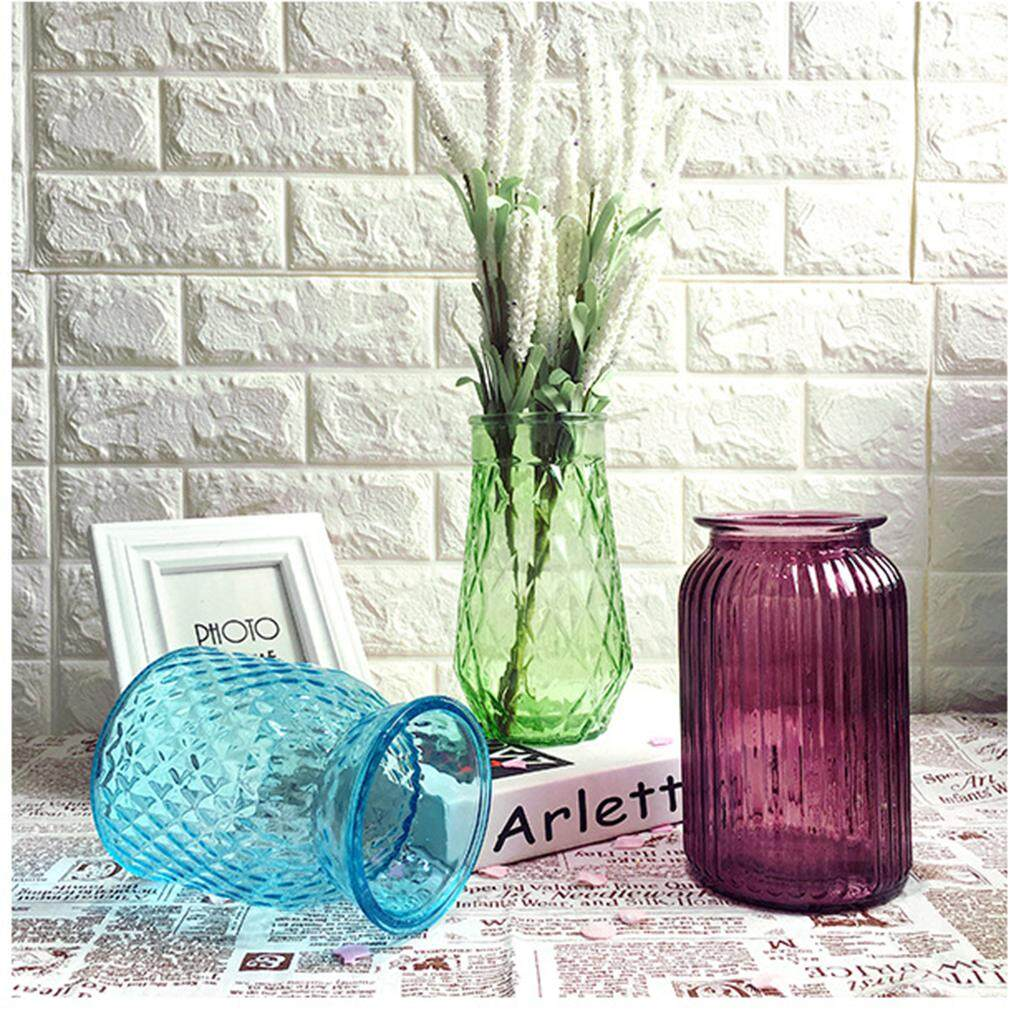 Fityle Glass Stand Plant Flower Vase Hydroponic Container Bottle Home Room Decor #7