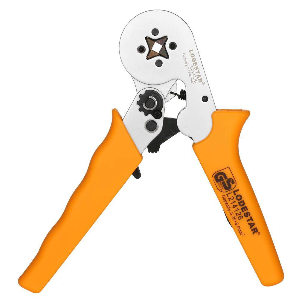 LODESTAR Professional Wire Crimpers Crimping Press Pliers Crimping Tool 24~10 AWG(0.25~6mm²) Capacity for Terminals