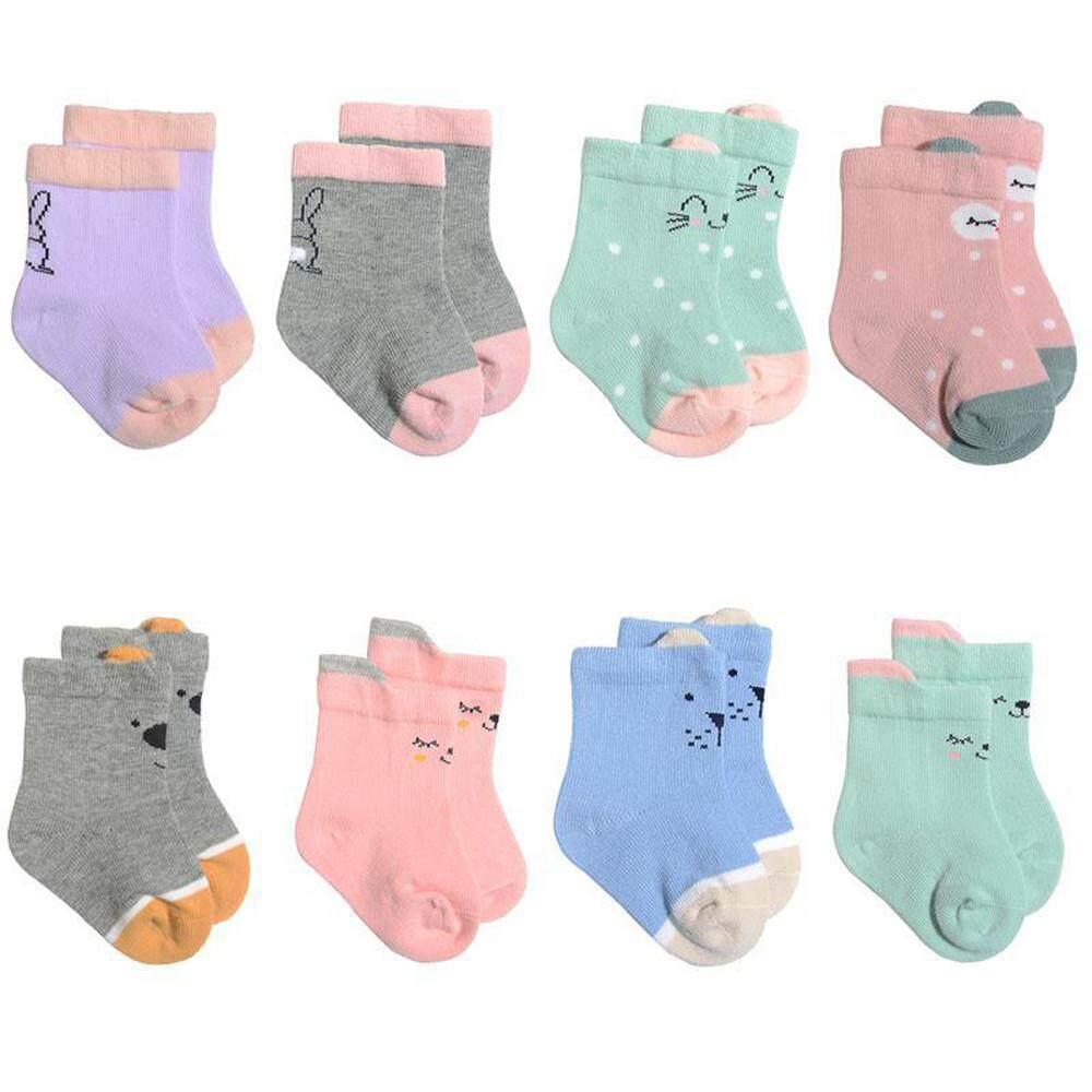 【katata】8pair ทารกเด็กผู้หญิงเด็กผู้ชายเครื่องปรับอากาศผ้าฝ้ายน่ารักทารกเด็กเด็กผู้หญิงถุงเท้า By Katata.