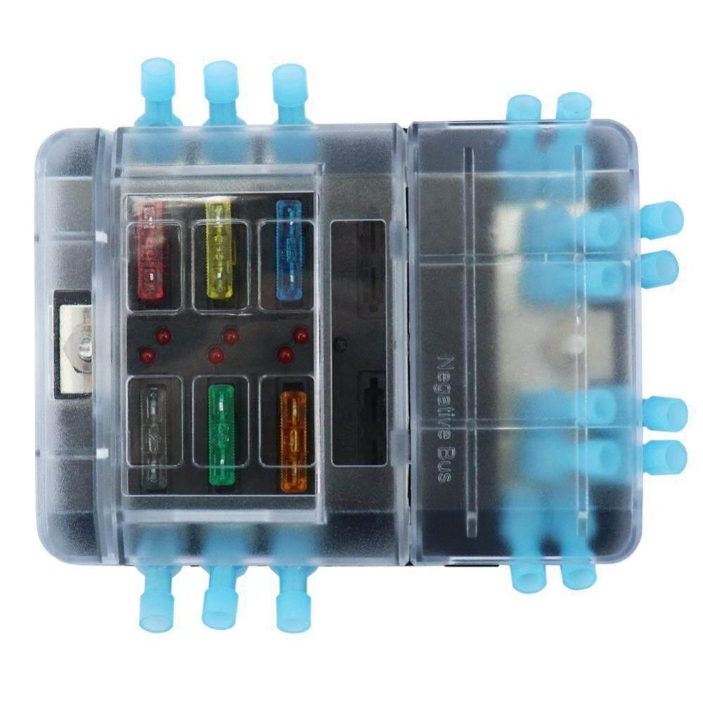 Fitur Dc32v 100a Blade Fuse Box Holder 12p Negative Bus Bar Quick Terminal Terminals With