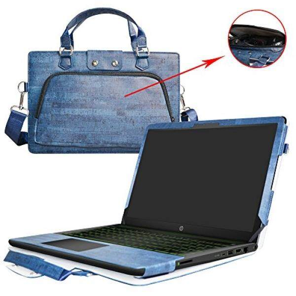 Laptop Sleeves Pavilion 15 Case,2 in 1 Accurately Designed Protective PU Cover+Portable Carrying Bag For 15.6 HP Pavilion 15 15-cc000/Power 15 15-cbaptop,Blue - intl