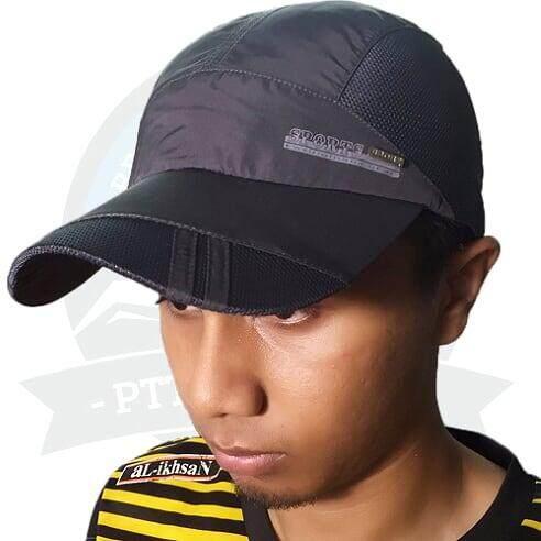 [LOCAL DELIVERY] Running Cap Athletic Outdoor Cap For Men and Women Outdoor Activities Cap - Dark Grey
