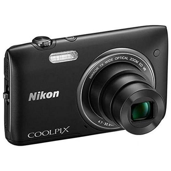Nikon Coolpix S3500 20.1 Kamera Digital MP dengan 7x Zoom (Hitam)