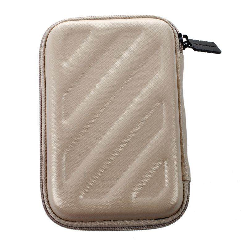 BUBM Portable EVA Hard Drive Case Electronics Accessories Travel Organizer Digital Storage bag S Gold ...