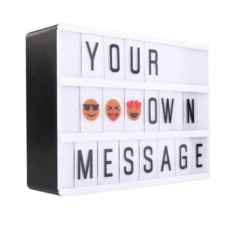 B-F A6 Combination LED Night Light Box USB Port DIY Black Letters Cards Lamp Message Board Party Sign Cinema Lightbox Singapore
