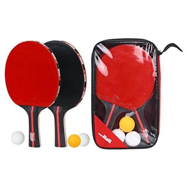 Boliprince Raket Ping Pong 2-Player Raket Tenis Meja Set dengan 3 Bola-Intl