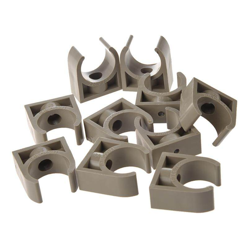 10 Pcs 25mm Diameter PPR Water Supply Pipe Clamps Clips Fittings - intl