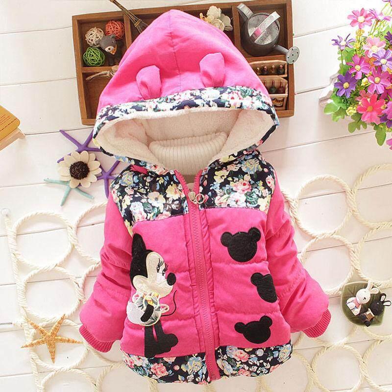 6323669b4 ❤️Cutiebaby Kids Baby Girls Floral Hooded Jacket Coat Zip Winter Warm  Snowsuits