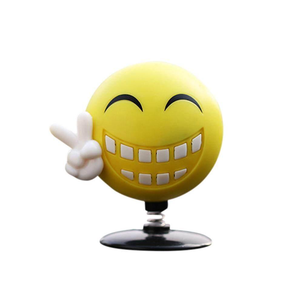 Fanestiy Mobil Parfum Rumah Berayun Emoji Mainan Penari Dekorasi Tersenyum Diffuser Mengangguk Hadiah