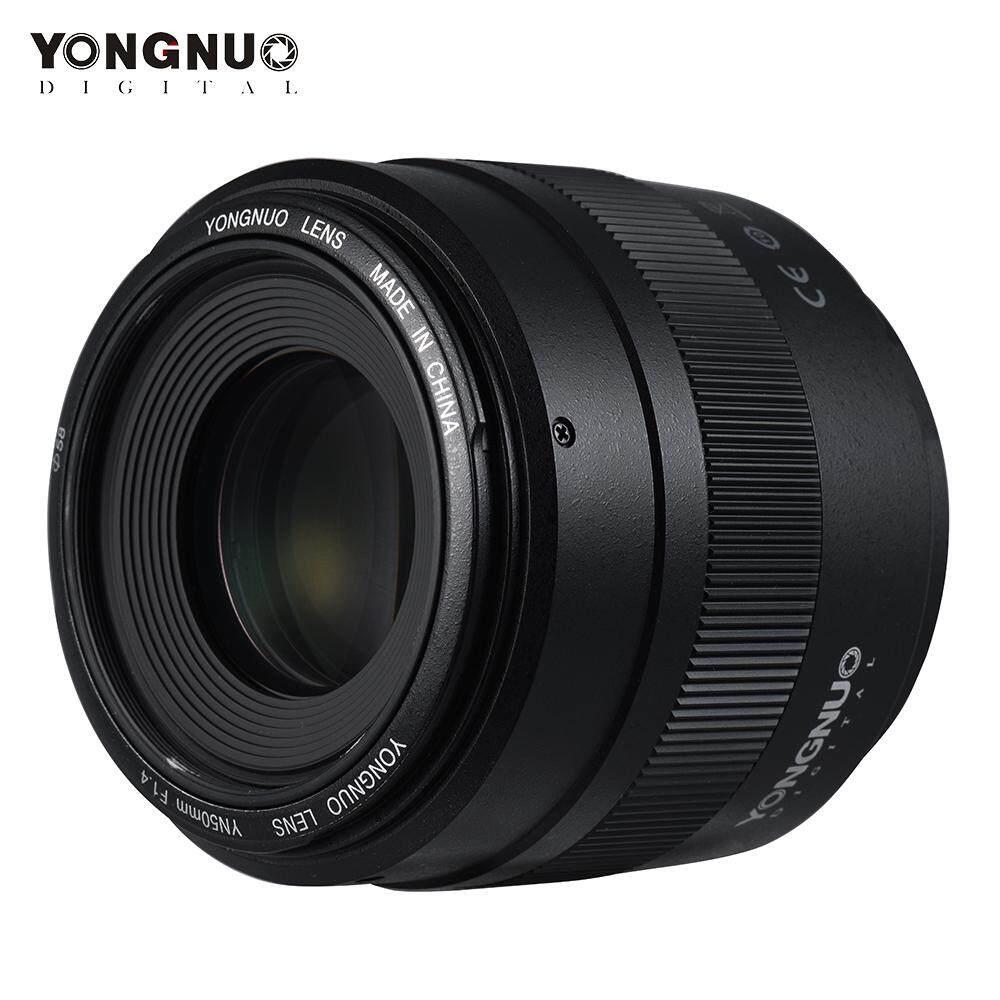 Yongnuo YN50mm F1.4 Standar Lensa Utama Aperture Besar Auto Fokus untuk Canon EOS 70D 5D2 5D3 600D Kamera DSLR