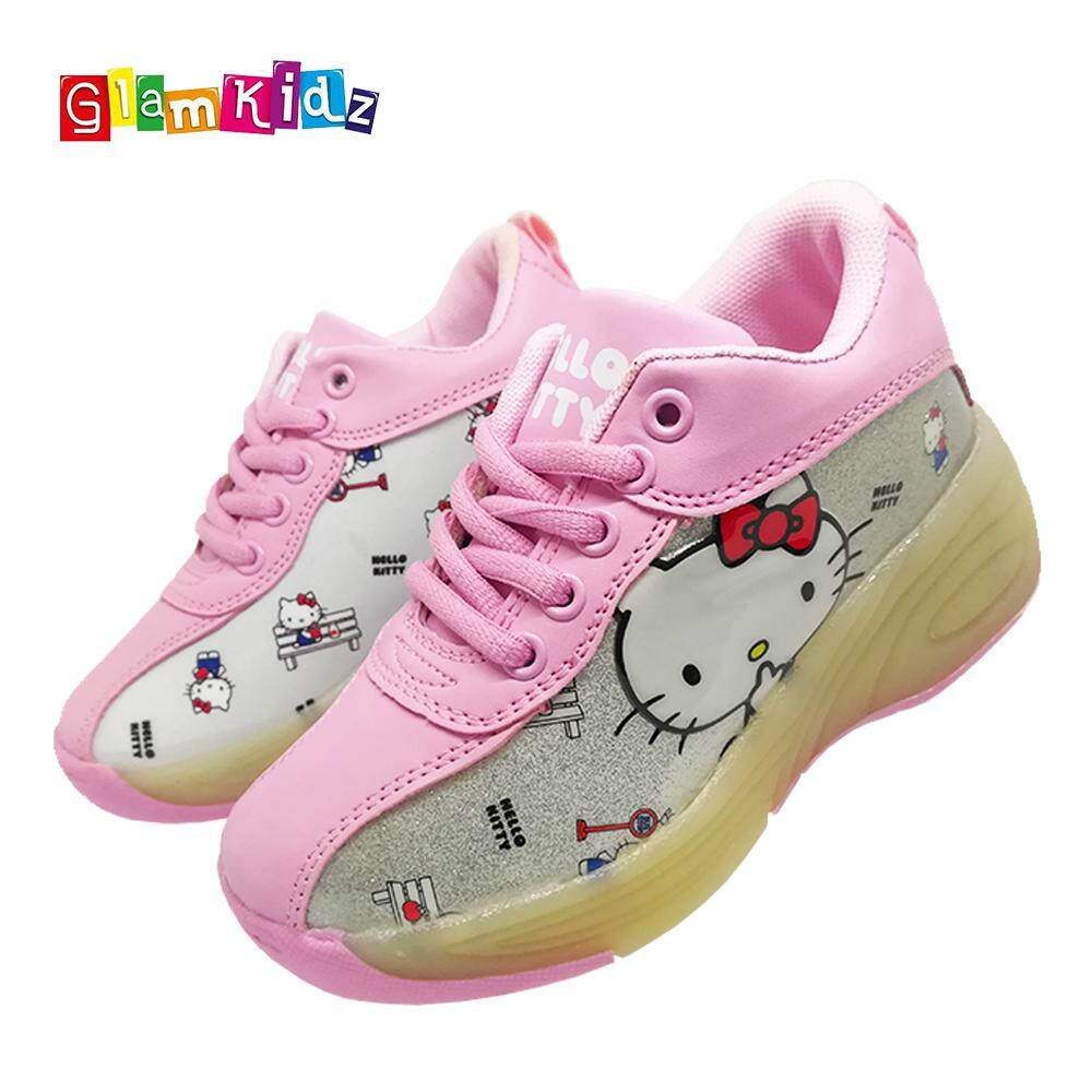 GlamKidz Hello Kitty Fashion Roller Skate Sports Shoes With Retractable Roller & LED #7254