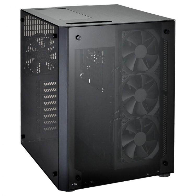 LIAN LI PC-O8WX ALUMINIUM TEMPERED GLASS E-ATX CASING BLACK Malaysia