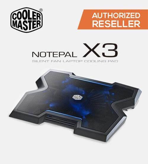 Cooler Master NotePal X3 Silent Fan Notebook Cooling Pad (Cooler Master Malaysia) Original Malaysia