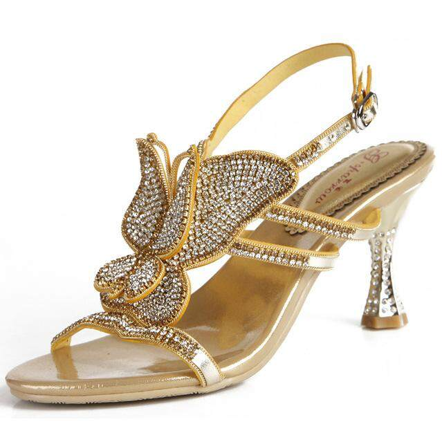 Womens Summer Shoes Personalized Bow Retro Roman Sandals Diamonds High Heels  - intl bca57eecfb26