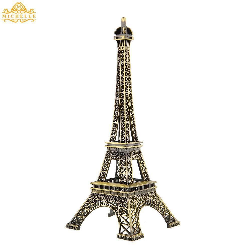 25 Cm Perunggu Nada Paris Eiffel Tower Patung Figurine Antik Model Dekorasi Rumah