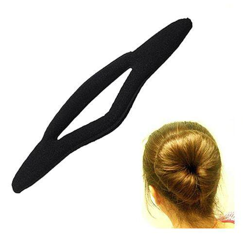 9.6 Magic Sponge Bun Maker Curler Hair Ponytail Holder Black - intl