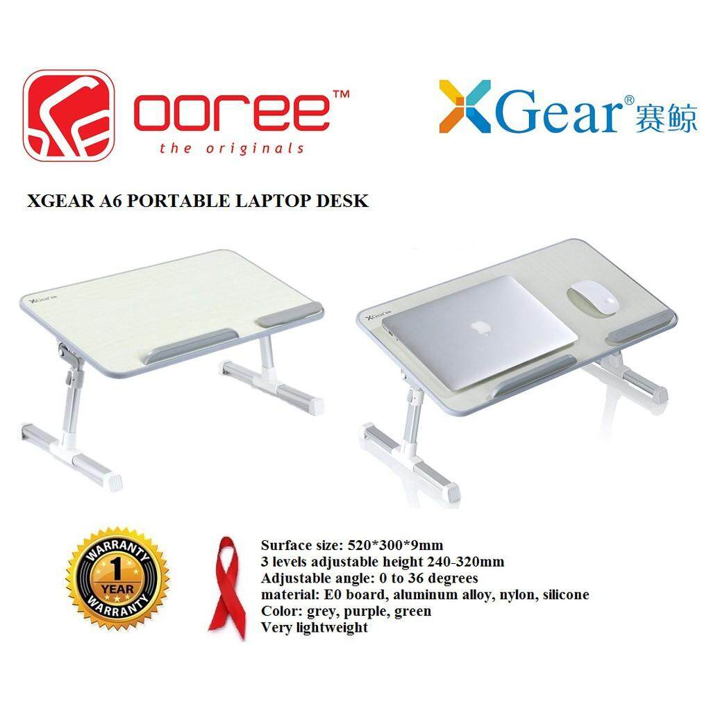 GENUINE XGear A6 Foldable Portable Laptop Notebook Bed Table Stand (Support up to 15 notebook) Malaysia