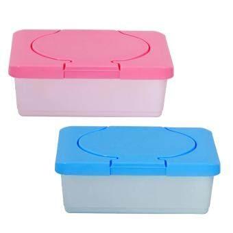 ขายช็อก 2pcs Empty Plastic Wet Tissue Paper Storage Holder Container Case Baby Wipes Dispenser Box Home Accessories ซื้อเลย - มีเพียง ฿149.89