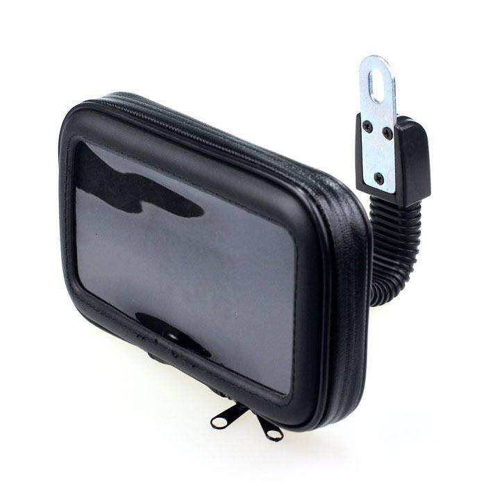 Baru Tahan Air Motor Belakang Cermin Mount Case untuk Ponsel GPS 5'
