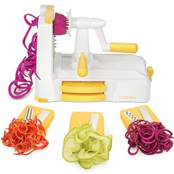 Zestkit Tri-Blade Spiralizer Sayuran Slicer Terkuat-dan-Yang Paling Berat Tugas Sayuran Pasta & Pembuat Spageti untuk Karbohidrat Rendah /Paleo/Bebas Gluten Makanan-Intl