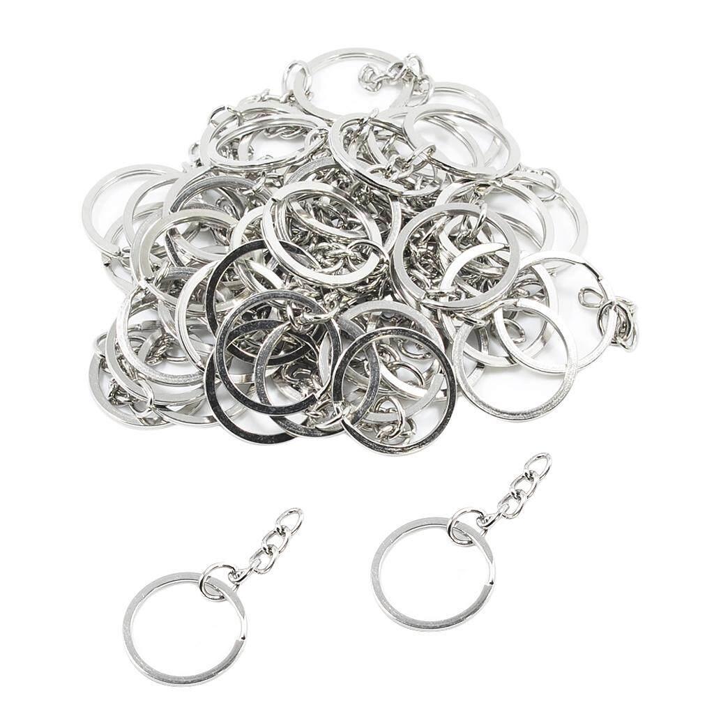 99ddef86e0f4 BolehDeals 50Pcs 25mm Split Key Rings with Chain Keychain Ring Parts Key  Chains for Car Home Keys Organization, Arts & Crafts, DIY Jewelry
