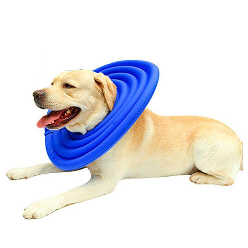 Doglemi Protective Recovery Pet Soft Cone Comfortable E-Collar For Dogs And Cats Water-Resistant, Blue Xl By Yoyonow.