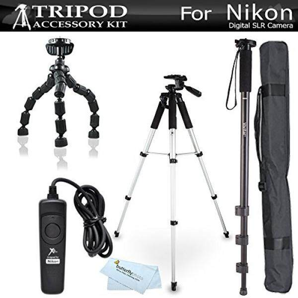 Tripod Bundle Kit For Nikon Df, D5300 D3300 D5200 D3200 D3100 D5100, D7100, D600 D610, D810, D750, D7200 Digital SLR Camera Includes 57